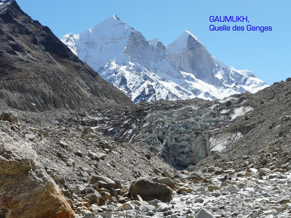 Gaumukh - Gangesquelle - (Indien, Google Earth, Fluss)