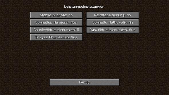 Leistung - (Minecraft)