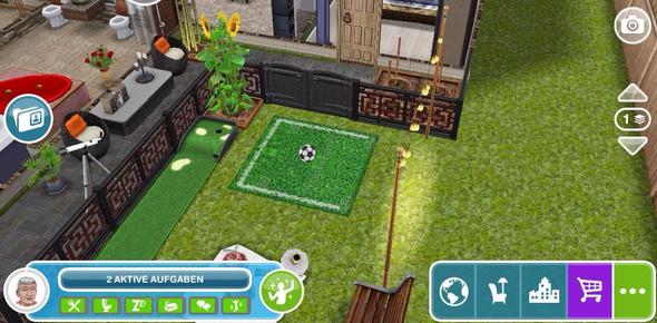 Sims Freeplay Fußball Stadt eines anderen - (Fußball, Sims, Stadt)