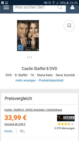 - (DVD, Castle, Staffel 8)