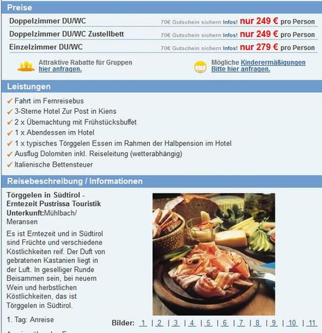Reise Südtirol mit Reisebus24.de - (Reise, Verarsche)