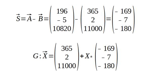 Rechnung - (Mathe, Gleichungen, vektoren)