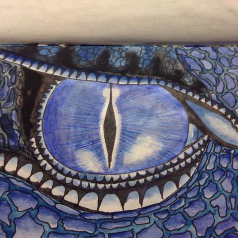 Man kann auch augen von anderen wesen zeichnen, zb drachen (eragon, saphira) - (Mädchen, Augen, Kunst)