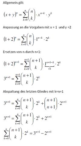 - (Mathematik, Summe, Binominalkoeffizient)
