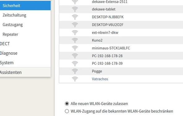 - (Internet, WLAN, Router)