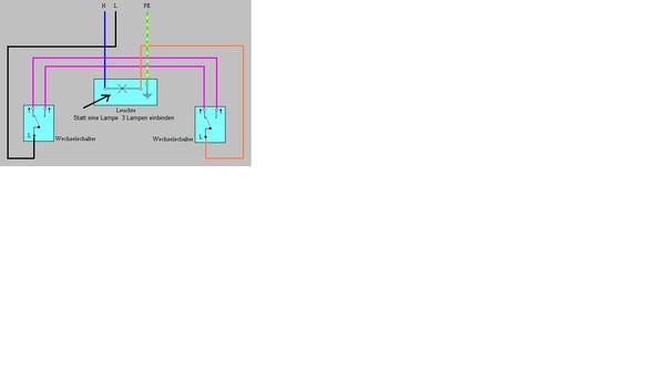 wechselschaltung 2 schalter. Black Bedroom Furniture Sets. Home Design Ideas