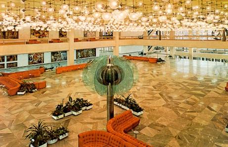 Palst der Republik - Foyer mit Glasblume - (Geschichte, Politik)