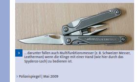 - (Messer, Leatherman, einhändig)