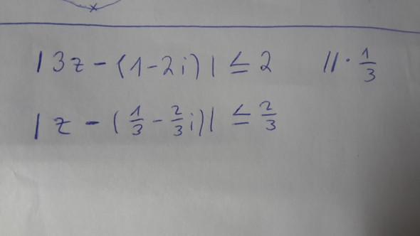 Hier die Betragsungleichung - (Mathematik, menge, komplexe zahlen)
