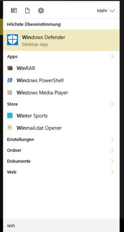 So findest du WindowsDefender - (Computer, Windows)