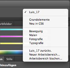 """Bei Durcheinander --> """"Luis_17 zurücksetzen"""" oder neuen Bereich (in deinem Fall) - (Photoshop, Icon)"""