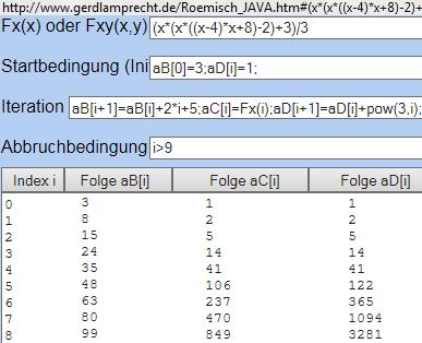 Iterationsrechner zum Erstellen einer Wertetabelle - (Mathe, Reihe, sigma)