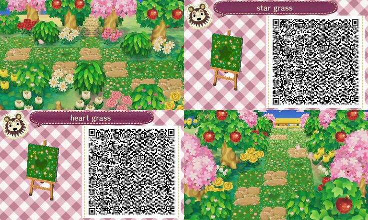 Animal crossing new leaf qr codes boden blumen for Animal crossing boden qr