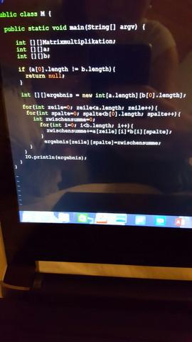 Das ist der Ansatz... sorry🙈 - (Java, matrizenmultiplikation)