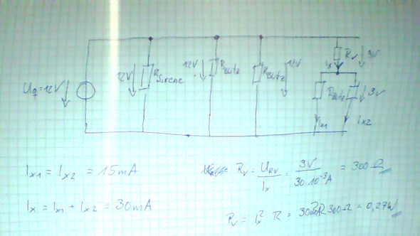 Schaltplan - (Elektronik, Widerstand berechnen)