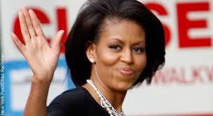 Michelle Obama mit langen Fingern - (Mädchen, Eltern, Finger)