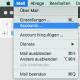 """Klicke auf """"Mail"""" --> """"Accounts""""."""
