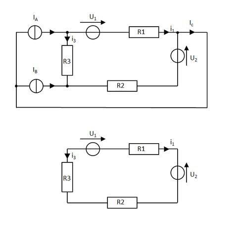 Ersatzschaltbilder 1 - (Elektrotechnik, Überlagerung superpositionsverfahren)