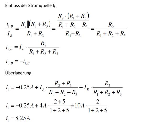 - (Elektrotechnik, Überlagerung superpositionsverfahren)