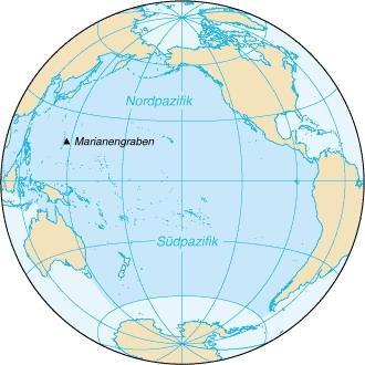 Pazifik-Karte - (Geografie, Ozean)