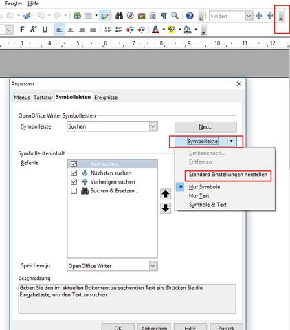 OOo Standardeinstellungen wederherstellen  - (OpenOffice, openoffice writer, standarteinstellungen)