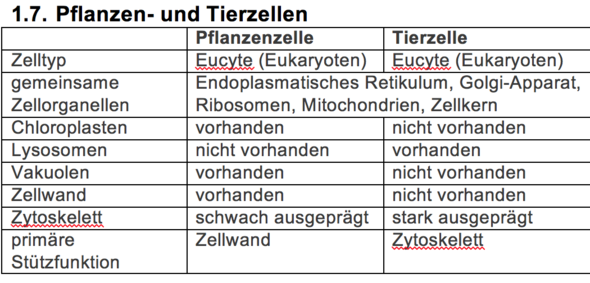 - (Biologie, Unterschied)