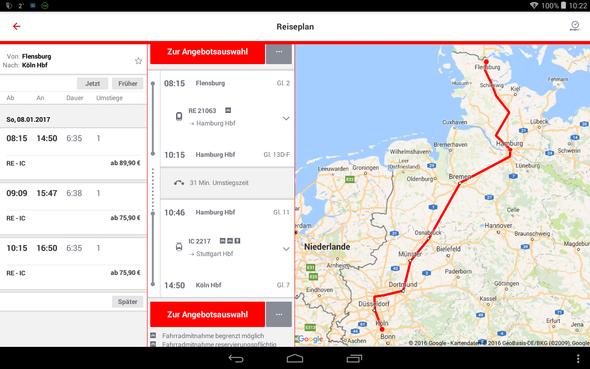 das heißt du musst in Hamburg umsteigen :) - (Bahn, Zugfahrt, umsteigen)