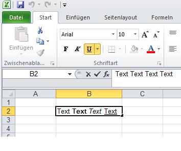Excel Microsoft: Kann nicht fett/kursiv schreiben? (Computer)