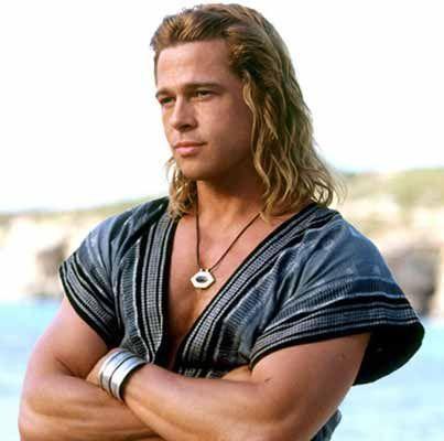 Hier ist er Achilles ( Brad Pitt) - (Film, griechische Götter)