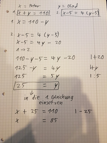 Hilfe! Brauche Dringend Lösung zur Mathe Hausaufgabe - Lineare ...