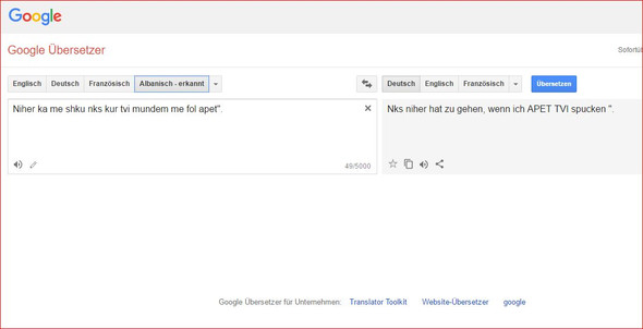 Übersetzung von Deutsch auf Albanisch - (deutsch, Uebersetzung, albanisch)