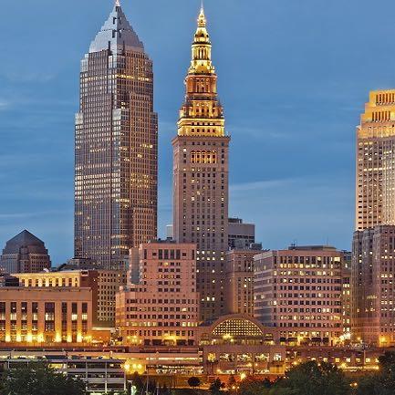 Cleveland am Abend - (Englisch, USA, Referat)
