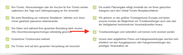 Global Ticket Erfahrungen