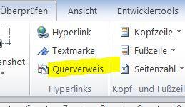 Querverweis - (Word, EDV, Textverarbeitung)