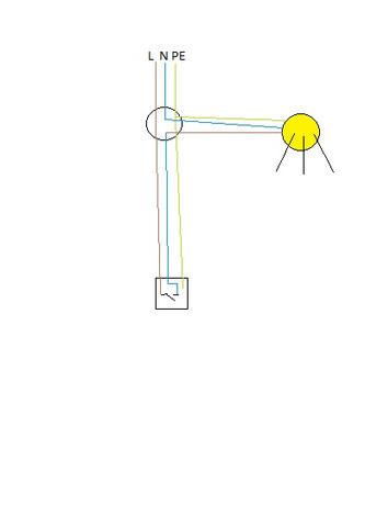 Lichtschalter anschließen (ein Kabel)? (Strom, Elektrik, Licht)