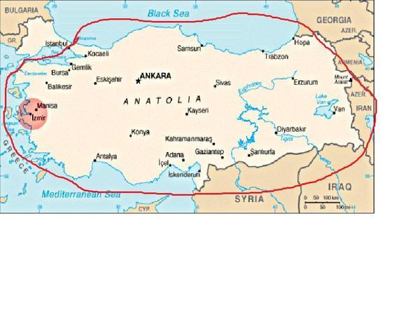 anatolien karte Welchen Teil der Türkei bezeichman als Anatolien? (Politik