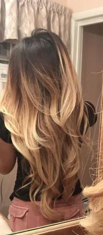 Haarfarbe blond mit dunkel