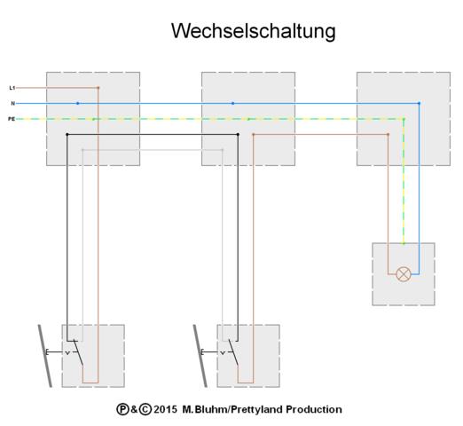Fantastisch Wie Man Ein 2 Wege Lichtschalterdiagramm Verdrahtet ...