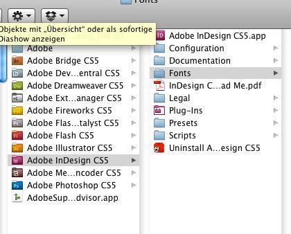 Indesign Font-Ordner - (Software, Schrift, inDesign)