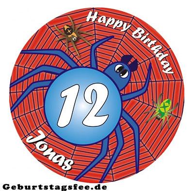 Essbare Tortenauflage mit witzigem Spinnenmotiv - (Geburtstag, kellerparty)