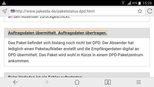 - (DPD, Sendeverfolgung)