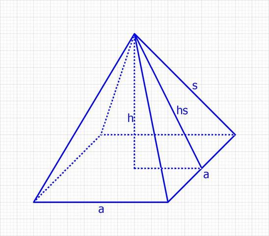 quadratische Pyramide - (Schule, Mathe, Mathematik)