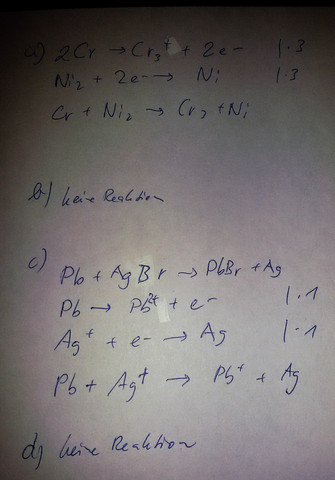 - (Chemie, Metall, Redox)