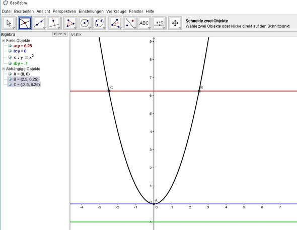 Lösung - (Arbeit, Mathe, Parabel)