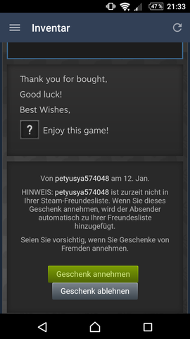 - (Geschenk, Steam, steam-geschenke)
