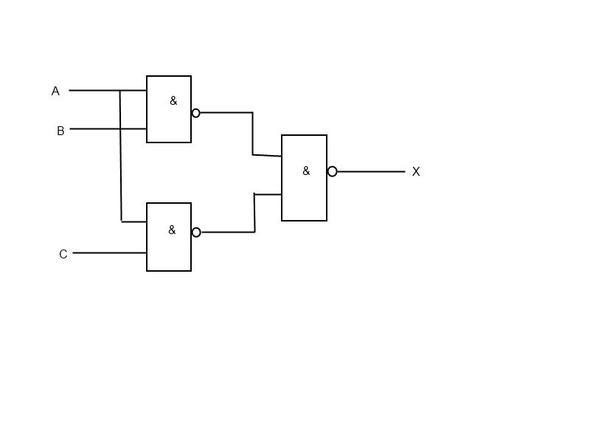 Lösung in NAND-Technik - (Elektrotechnik, Digitaltechnik, Logische Funktionen)