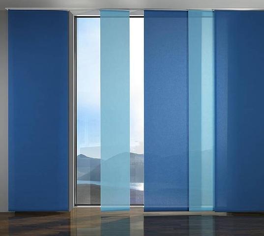 modern - der flächenvorhang - versteckt auch unterschiedliche fenster.. - (Kreativität, Dekoration, Vorhang)