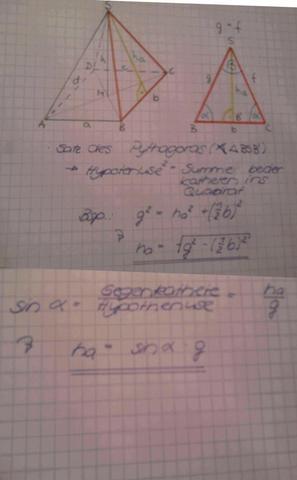 Beispiel - (Mathe, pyramide, Seitenflächen einer Pyramide)