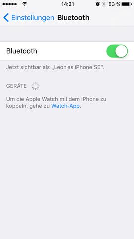 Mein iPhone zeigt es nicht an, wenn ich Bluetooth aktiviert habe ...