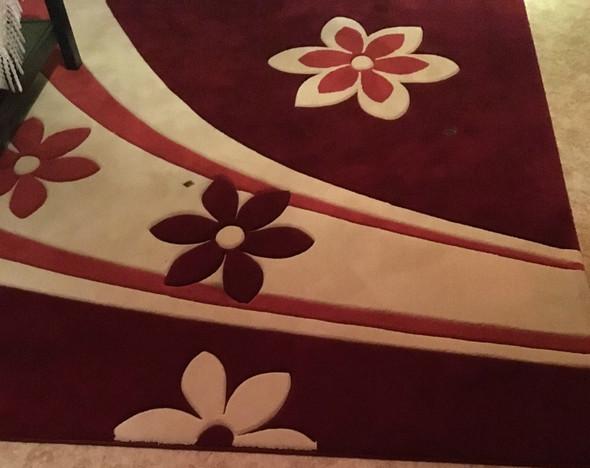 Großer Teppich  - (Teppich, Brandschaden)